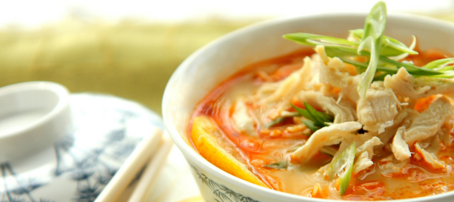Soupe Bangkok au poulet
